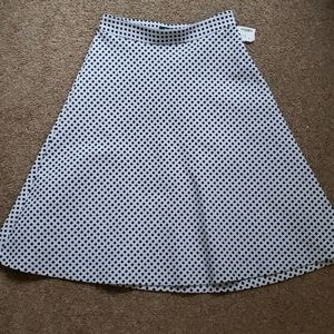 RW& Co Black and White A Line Skirt